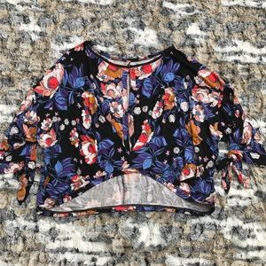 Free People Over Sized Floral Top